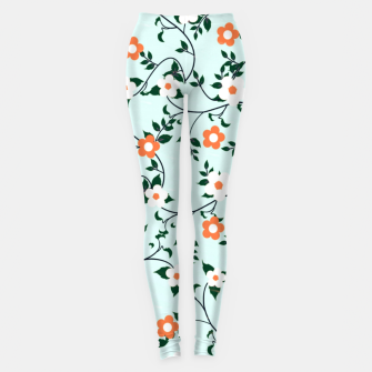 Thumbnail image of White and orange flowers Leggings, Live Heroes