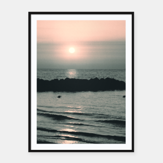 Miniature de image de Sunset Ocean Bliss #4 #nature #art Plakat mit rahmen, Live Heroes