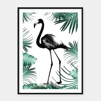 Miniature de image de Flamingo in the Jungle #2 #tropical #decor #art Plakat mit rahmen, Live Heroes