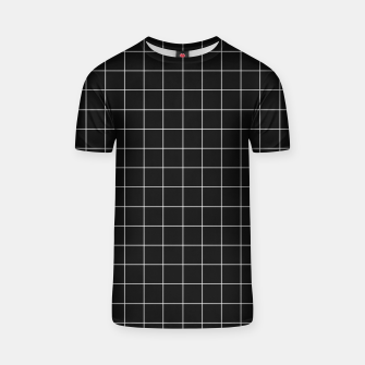 Miniaturka Black and white plaid T-shirt, Live Heroes