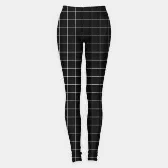 Black and white plaid Leggings obraz miniatury