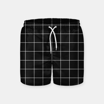 Miniaturka Black and white plaid Swim Shorts, Live Heroes