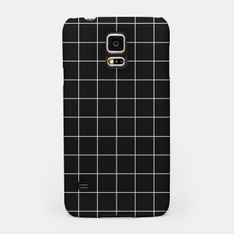 Black and white plaid Samsung Case obraz miniatury