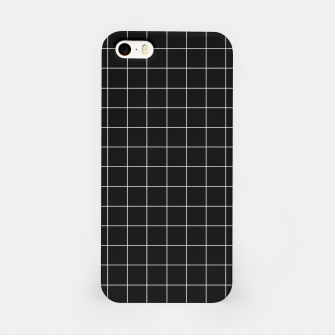 Miniaturka Black and white plaid iPhone Case, Live Heroes