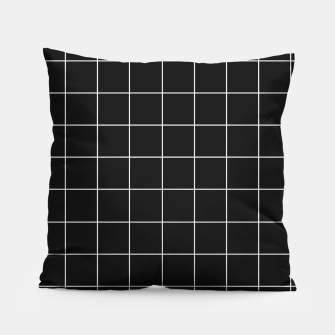 Miniaturka Black and white plaid Pillow, Live Heroes