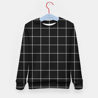 Miniaturka Black and white plaid Kid's sweater, Live Heroes