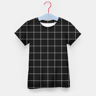Miniaturka Black and white plaid Kid's t-shirt, Live Heroes