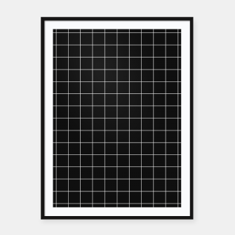 Miniature de image de Black and white plaid Framed poster, Live Heroes