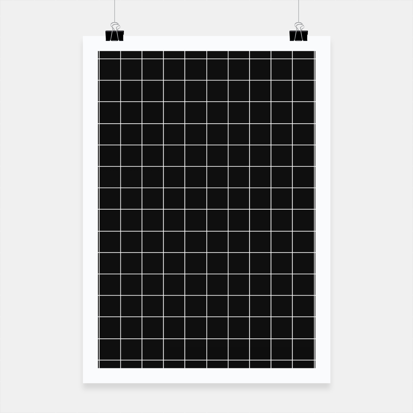 Zdjęcie Black and white plaid Poster - Live Heroes