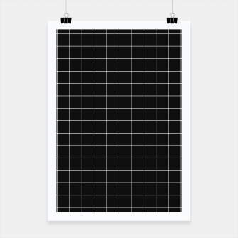 Black and white plaid Poster obraz miniatury