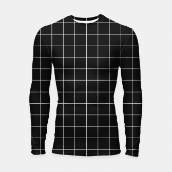 Black and white plaid Longsleeve rashguard  obraz miniatury