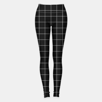 Miniaturka Black and white plaid Leggings, Live Heroes