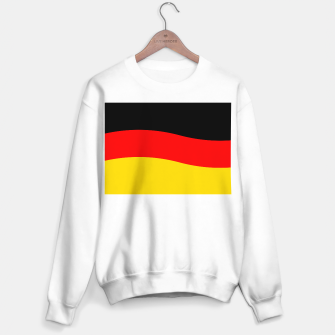 Miniatur Black Red and Yellow German Flag Wave Sweater regular, Live Heroes
