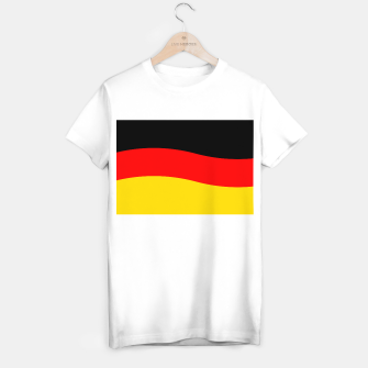 Miniatur Black Red and Yellow German Flag Wave T-shirt regular, Live Heroes