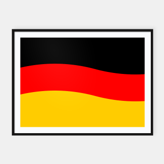 Miniature de image de Black Red and Yellow German Flag Wave Framed poster, Live Heroes