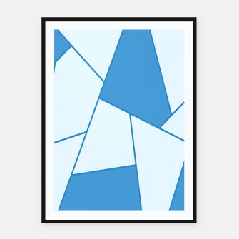 Miniature de image de Abstract geometric pattern - blue. Framed poster, Live Heroes