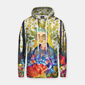 Thumbnail image of Floral forest Cotton hoodie, Live Heroes