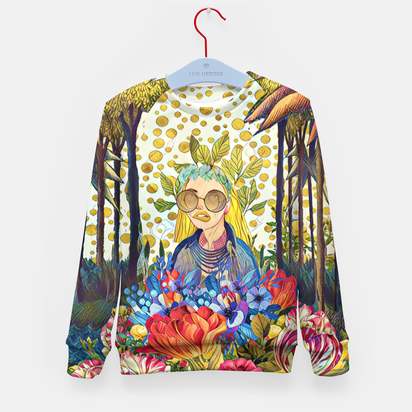 Image of Floral forest Kid's sweater - Live Heroes