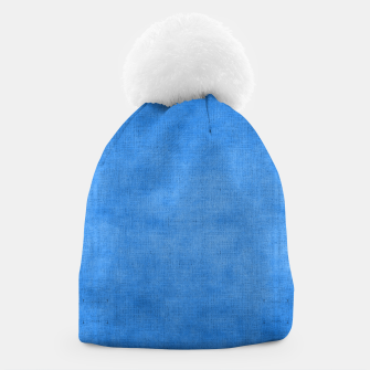 "Miniaturka ""Exotic Moroccan Indigo Blue Burlap Texture"" Gorro, Live Heroes"
