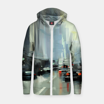 Thumbnail image of Cityscape Cotton zip up hoodie, Live Heroes