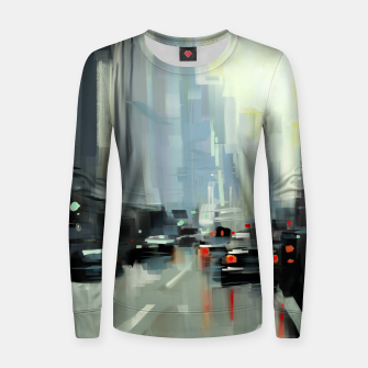 Thumbnail image of Cityscape Woman cotton sweater, Live Heroes