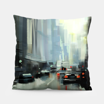 Thumbnail image of Cityscape Pillow, Live Heroes