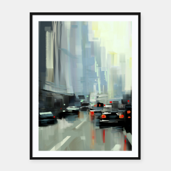Thumbnail image of Cityscape Framed poster, Live Heroes