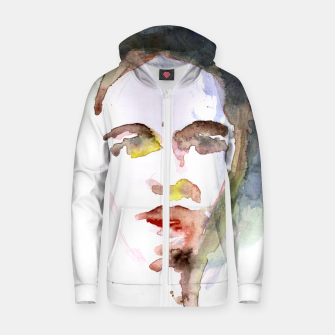 Thumbnail image of Make-Up Cotton zip up hoodie, Live Heroes