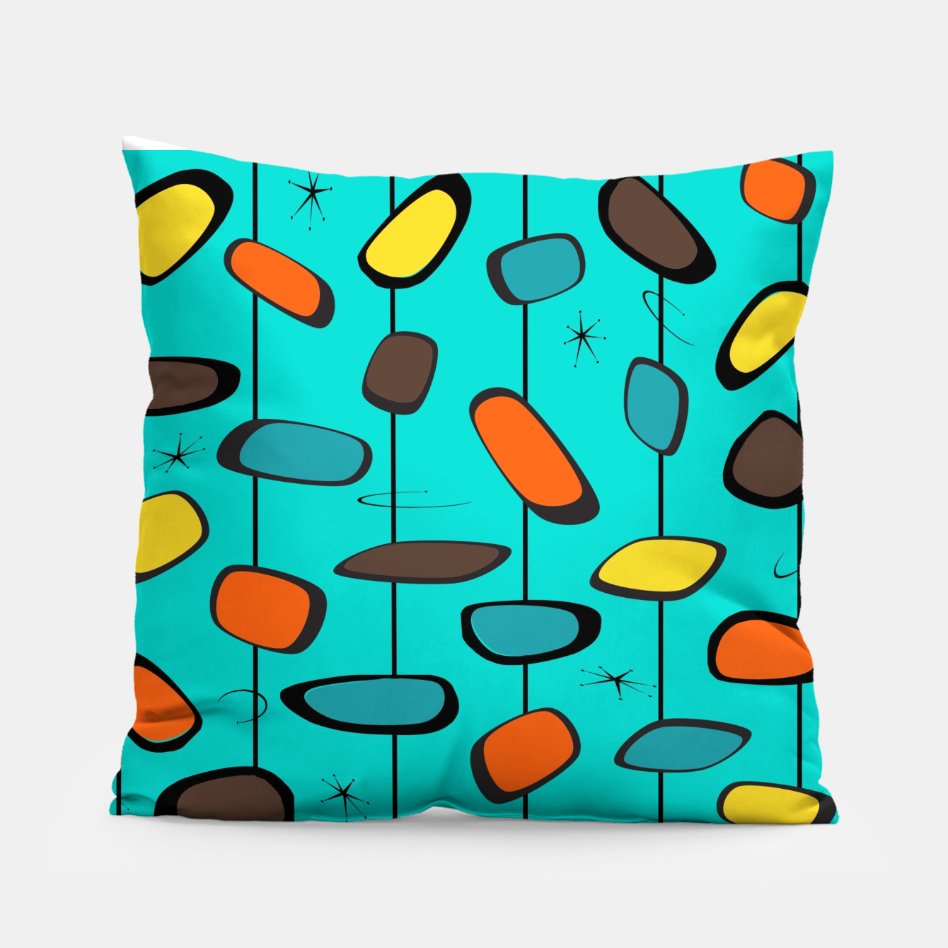 Image of Mid Century Modern Groovy  Pillow - Live Heroes