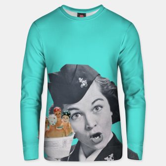Imagen en miniatura de Vintage Flight Attended with a Cup of Swimmers Cotton sweater, Live Heroes