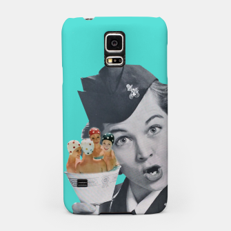 Imagen en miniatura de Vintage Flight Attended with a Cup of Swimmers Samsung Case, Live Heroes