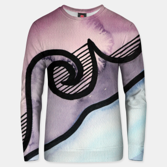 Thumbnail image of Sharp 80s watercolor Cotton sweater, Live Heroes