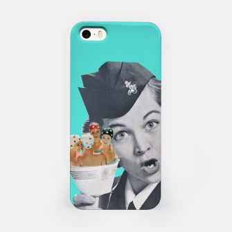 Imagen en miniatura de Vintage Flight Attended with a Cup of Swimmers iPhone Case, Live Heroes