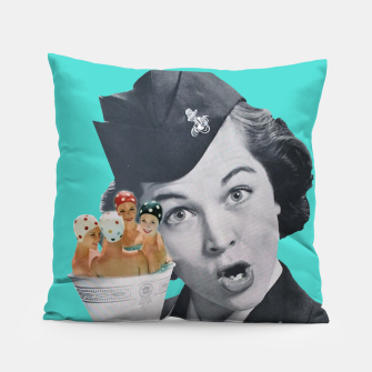 Imagen en miniatura de Vintage Flight Attended with a Cup of Swimmers Pillow, Live Heroes