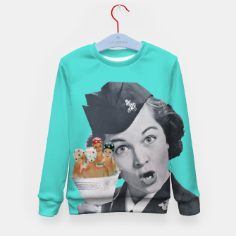 Imagen en miniatura de Vintage Flight Attended with a Cup of Swimmers Kid's sweater, Live Heroes