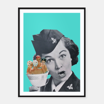 Miniature de image de Vintage Flight Attended with a Cup of Swimmers Framed poster, Live Heroes