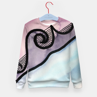 Thumbnail image of Sharp 80s watercolor Kid's sweater, Live Heroes