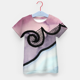 Thumbnail image of Sharp 80s watercolor Kid's t-shirt, Live Heroes