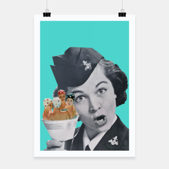 Imagen en miniatura de Vintage Flight Attended with a Cup of Swimmers Poster, Live Heroes