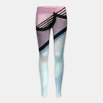 Thumbnail image of Sharp 80s watercolor Girl's leggings, Live Heroes