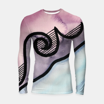Thumbnail image of Sharp 80s watercolor Longsleeve rashguard , Live Heroes