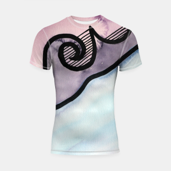 Thumbnail image of Sharp 80s watercolor Shortsleeve rashguard, Live Heroes