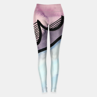 Thumbnail image of Sharp 80s watercolor Leggings, Live Heroes