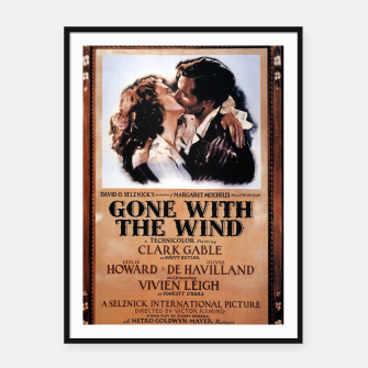 Miniature de image de Gone With the Wind Vintage Poster Framed poster, Live Heroes