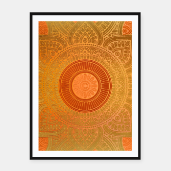 "Miniature de image de ""Savanna Orange-Gold Mandala"" Cartel con marco, Live Heroes"