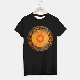 "Miniaturka ""Savanna Orange-Gold Mandala 02"" Camiseta Regular, Live Heroes"