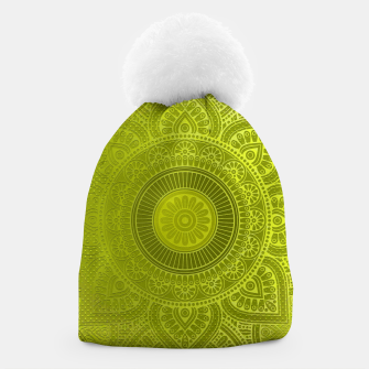 "Miniaturka ""Green Lemon Pattern Mandala Polka Dots"" Gorro, Live Heroes"