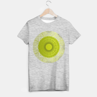 "Miniaturka ""Green Lemon Pattern Mandala Polka Dots"" Camiseta Regular, Live Heroes"