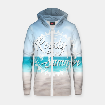 Thumbnail image of Ready for the Summer Baumwoll reißverschluss kapuzenpullover, Live Heroes