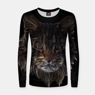 Thumbnail image of Cat Abstract  Woman cotton sweater, Live Heroes